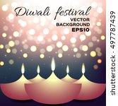 vector illustration of diwali... | Shutterstock .eps vector #497787439
