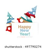 christmas and new year... | Shutterstock .eps vector #497790274
