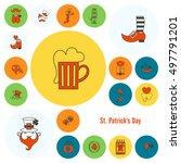saint patricks day icon set.... | Shutterstock .eps vector #497791201