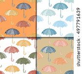 cute pattern of multi colored... | Shutterstock .eps vector #497791639