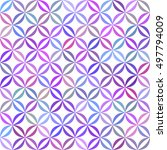 colorful curved pattern... | Shutterstock .eps vector #497794009