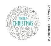 """merry christmas"" vector... | Shutterstock .eps vector #497795107"