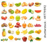 fruit collection | Shutterstock . vector #49779592