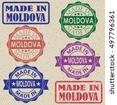 made in moldova vintage stamp... | Shutterstock .eps vector #497796361