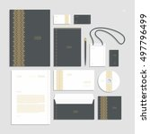 corporate identity  stationery... | Shutterstock .eps vector #497796499