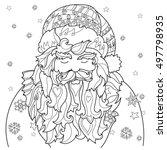 vector cute christmas santa... | Shutterstock .eps vector #497798935