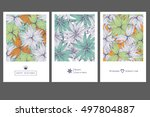 set of invitation cards with... | Shutterstock .eps vector #497804887