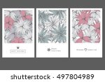 set of invitation cards with... | Shutterstock .eps vector #497804989