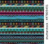 ethnicity seamless pattern.... | Shutterstock .eps vector #497805451