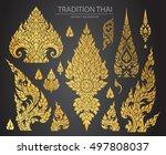 set of thai art element ... | Shutterstock .eps vector #497808037