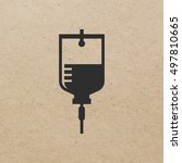 iv bag icon   vector | Shutterstock .eps vector #497810665