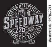 motorcycle gasoline typography  ... | Shutterstock .eps vector #497817061