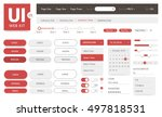 vector ui kit web template | Shutterstock .eps vector #497818531