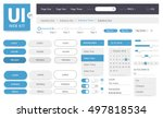 vector ui kit web template | Shutterstock .eps vector #497818534