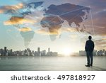 international business concept... | Shutterstock . vector #497818927