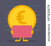 the euro coin. the illustration ...   Shutterstock .eps vector #497820079