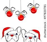 french bulldog portrait in a... | Shutterstock .eps vector #497820781