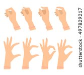 various gestures of female... | Shutterstock .eps vector #497829217