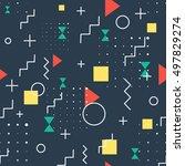 hipster dark pattern abstract... | Shutterstock .eps vector #497829274