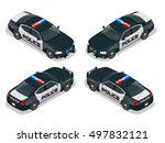 police car with rooftop... | Shutterstock . vector #497832121