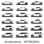 realistic car. different cars.... | Shutterstock .eps vector #497832841