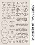 vintage elements for your... | Shutterstock .eps vector #497833507