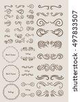 vintage elements for your... | Shutterstock .eps vector #497833507