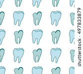 teeth seamless pattern for your ...   Shutterstock .eps vector #497833879