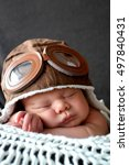 sweet little baby dreaming of... | Shutterstock . vector #497840431