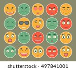 emoticons flat design set....   Shutterstock .eps vector #497841001