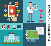 health care and medical flat... | Shutterstock .eps vector #497841901