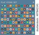 flat icons design modern vector ... | Shutterstock .eps vector #497842141
