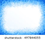 vector blue ice background | Shutterstock .eps vector #497844055