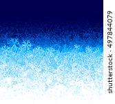 vector blue ice background | Shutterstock .eps vector #497844079