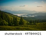 morning in the mountains. | Shutterstock . vector #497844421