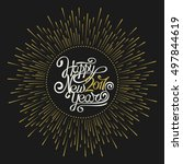 hand calligraphy. the... | Shutterstock .eps vector #497844619