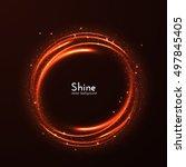 energy round frame magic vector ... | Shutterstock .eps vector #497845405