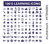 learning icons | Shutterstock .eps vector #497846881