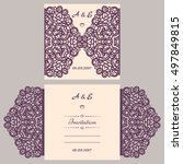 wedding invitation or greeting... | Shutterstock .eps vector #497849815