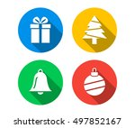 flat icon set of christmas | Shutterstock .eps vector #497852167