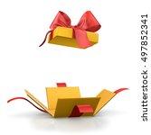 gift box for christmas  new... | Shutterstock . vector #497852341