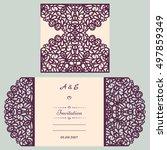 wedding invitation or greeting...   Shutterstock .eps vector #497859349