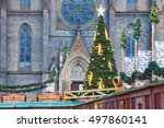 christmas tree before the... | Shutterstock . vector #497860141
