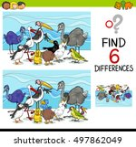 cartoon illustration of finding ... | Shutterstock .eps vector #497862049