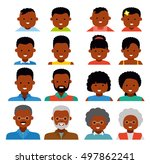 avatar icons. african american... | Shutterstock .eps vector #497862241