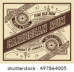 rum label with old ornaments | Shutterstock .eps vector #497864005