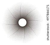 halftone effect vector... | Shutterstock .eps vector #497866171