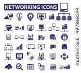 networking icons  | Shutterstock .eps vector #497868244
