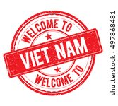 viet nam. welcome to stamp sign ...