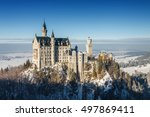 Neuschwanstein Castle At Foggy...